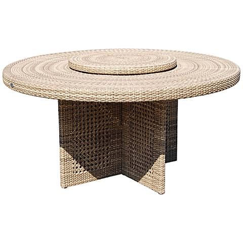 Dann Foley Highland Round Wicker Outdoor Dining Table