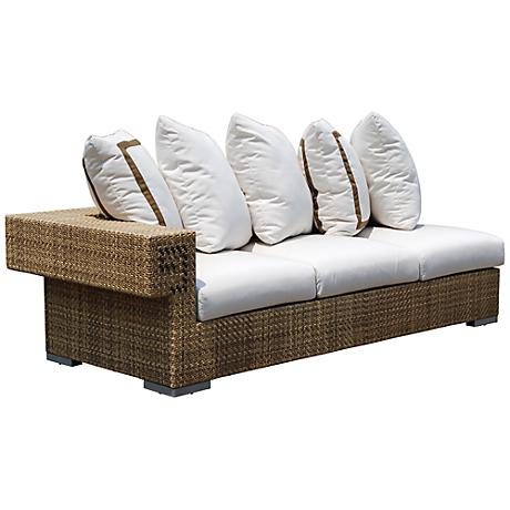 Dann Foley Hollywood Wicker Outdoor Sectional Sofa