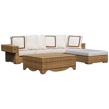 Dann Foley Hollywood Outdoor Sectional Sofa and Table Set