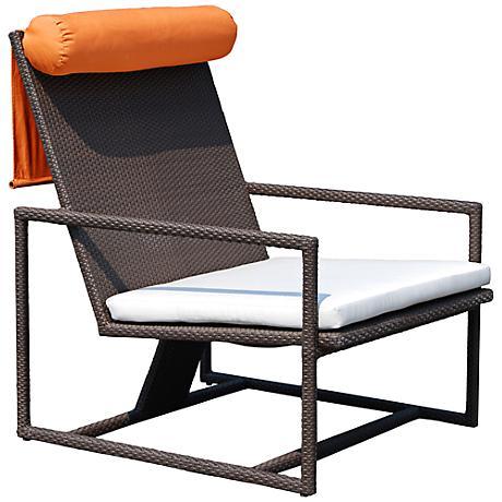 Dann Foley Malibu Chocolate Wicker Outdoor Club Chair