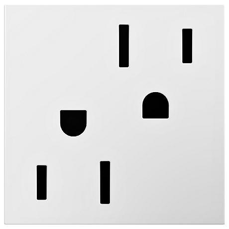 adorne® White 20A Tamper-Resistant Outlet