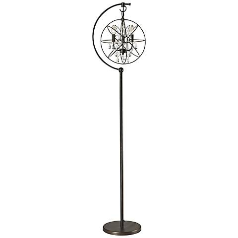 restoration globe crystal chandelier floor lamp 7p965 lamps plus. Black Bedroom Furniture Sets. Home Design Ideas