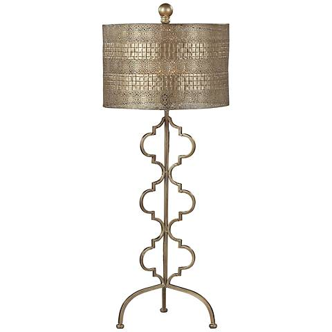 Dimond Gold Leaf Metal Table Lamp