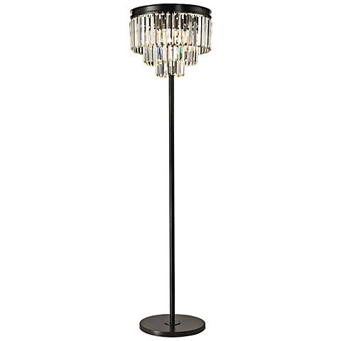 dimond palatial crystal chandelier floor lamp 7p985 lamps plus. Black Bedroom Furniture Sets. Home Design Ideas