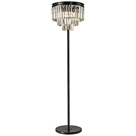Dimond Palatial Crystal Chandelier Floor Lamp