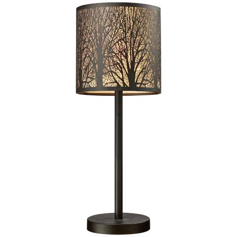 Dimond 20 High Woodland Sunrise Bronze Accent Table Lamp
