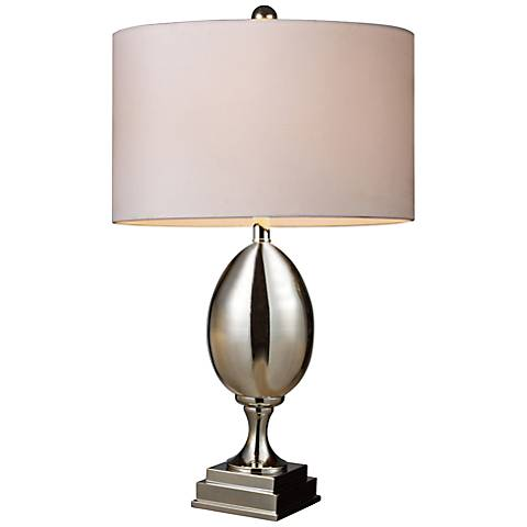 Dimond Waverly Mercury Glass Table Lamp with White Shade
