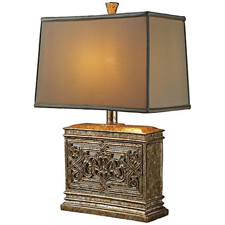Dimond laurel run courtney gold table lamp 7r059 lamps plus - Artistic d lamp shade designed with modern and elegant shape style ...