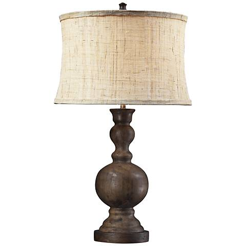 dimond westbridge dark oak wood table lamp 7r065 lamps plus. Black Bedroom Furniture Sets. Home Design Ideas