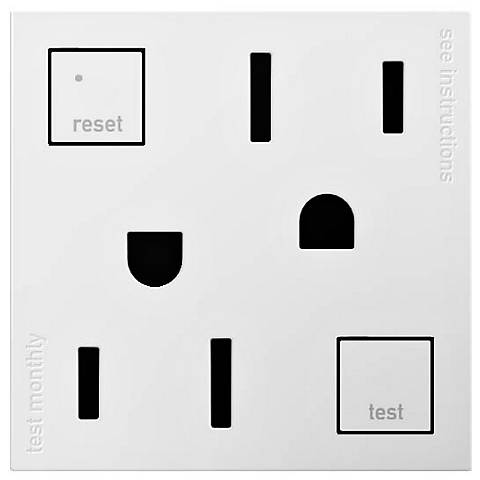 adorne® White Tamper-Resistant 20A GFCI Wall Outlet