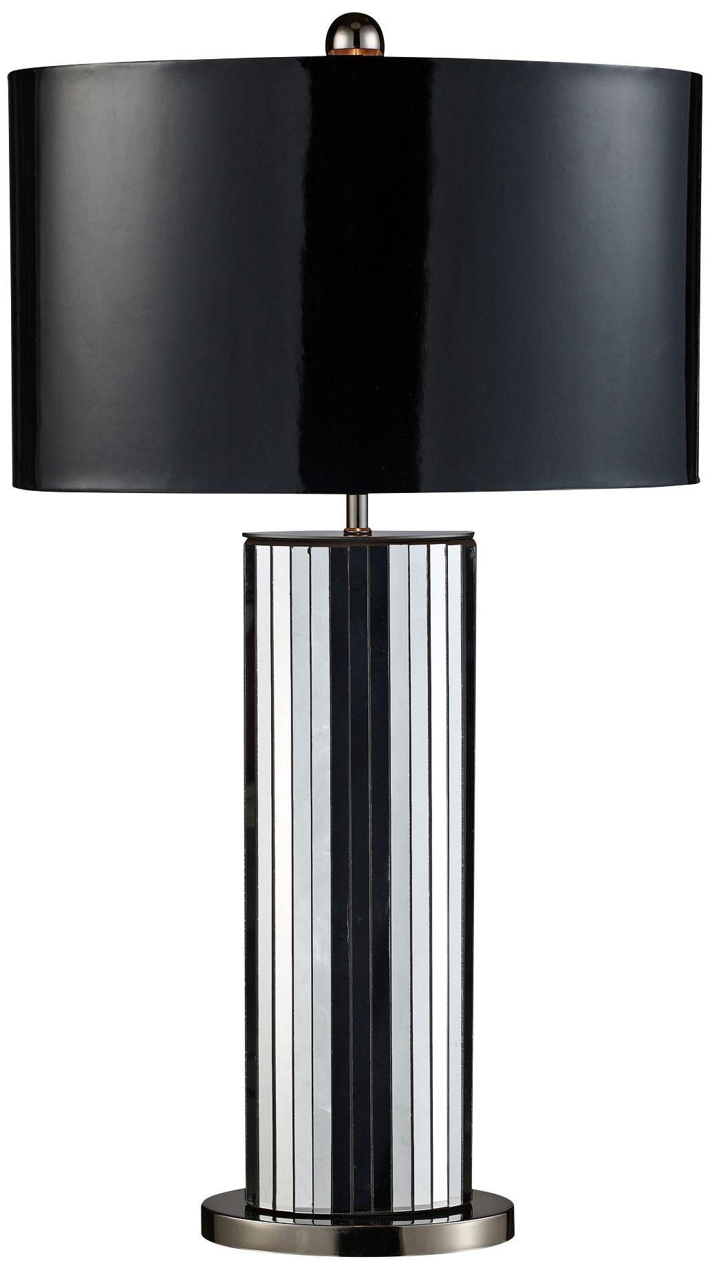 Dimond Shreve Black Chrome Mirror Table Lamp
