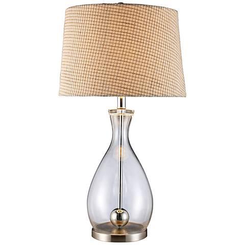 Dimond Longport Clear Glass Chrome Table Lamp