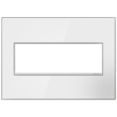 adorne® 3-Gang Mirror White Wall Plate