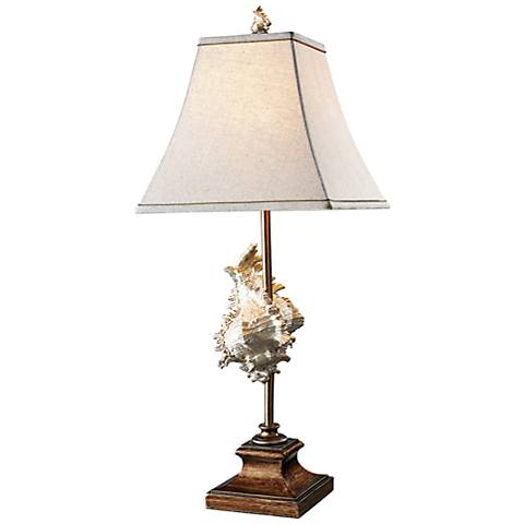 Dimond Delray Bronze Conch Shell Table Lamp