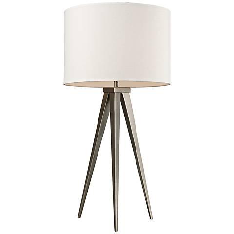 Dimond Salford Satin Nickel Tripod Table Lamp