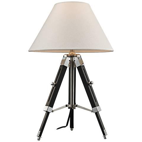 Dimond Studio Chrome and Black Adjustable Table Lamp