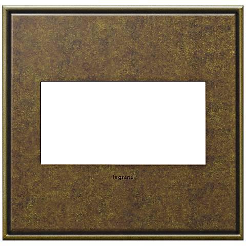 adorne® Cast Metal 2-Gang Aged Brass Wall Plate