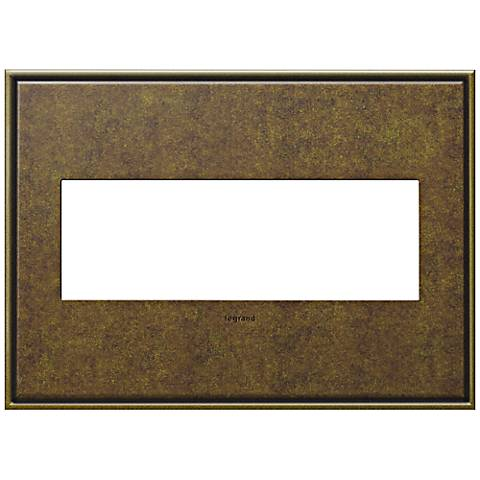 adorne® Cast Metal 3-Gang Aged Brass Wall Plate