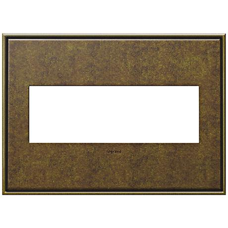 adorne® Cast Metal 3-Gang Aged Brass Wall Plate