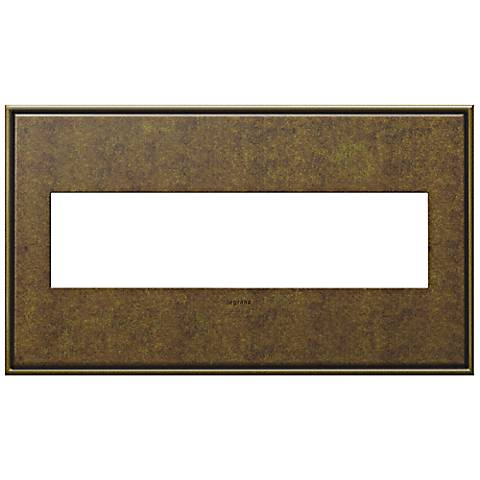 adorne® Cast Metal 4-Gang Aged Brass Wall Plate