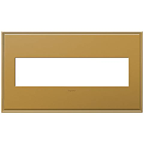 adorne® 4-Gang Cast Metal Antique Bronze Wall Plate