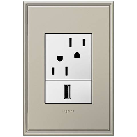 adorne Antique Nickel 1-Gang+ Cast Metal Wall Plate w/ Outlets