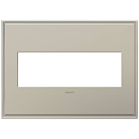 adorne® Cast Metal 3-Gang Antique Nickel Wall Plate