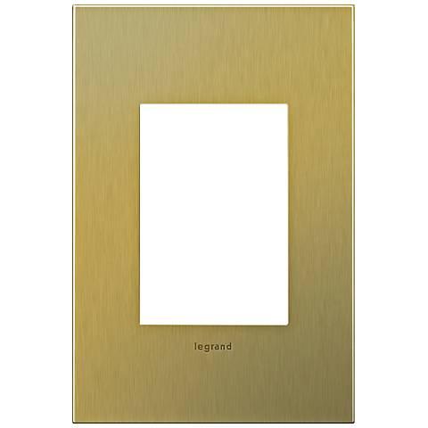 adorne® 1-Gang 3-Module Brushed Brass Wall Plate