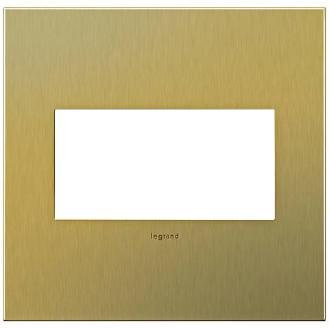 adorne® 2-Gang Brushed Brass Wall Plate