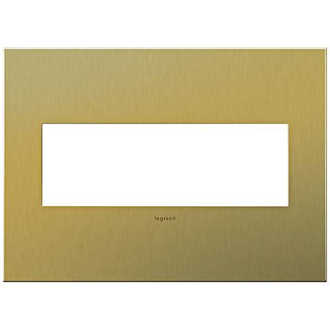 adorne® 3-Gang Brushed Brass Wall Plate