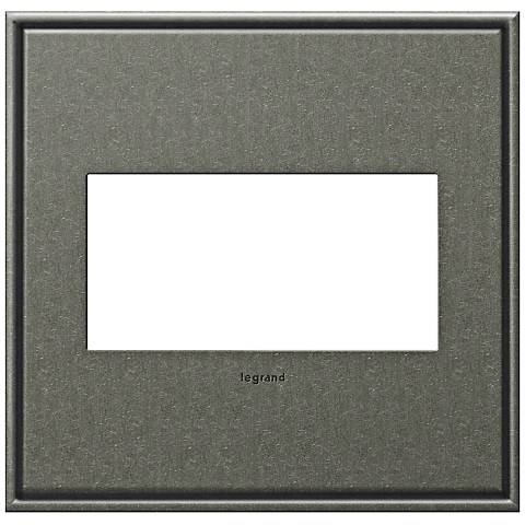 adorne® Cast Metal 2-Gang Brushed Pewter Wall Plate