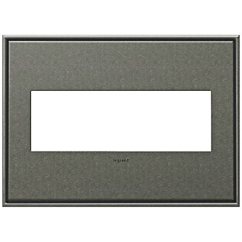 adorne® Cast Metal 3-Gang Brushed Pewter Wall Plate