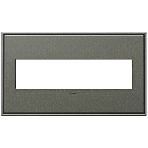adorne® Cast Metal 4-Gang Brushed Pewter Wall Plate