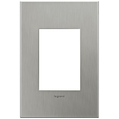 adorne® 1-Gang 3-Module Brushed Stainless Steel Wall Plate