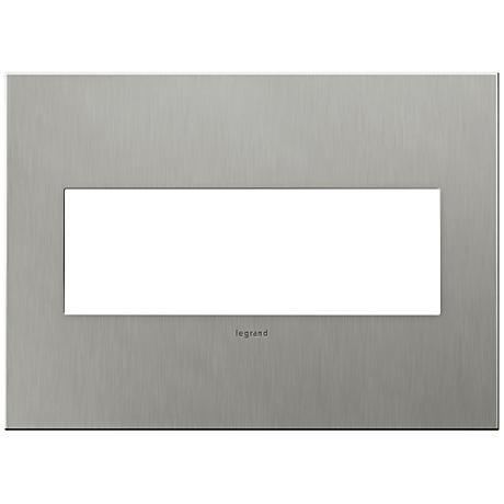 adorne 3 gang brushed stainless steel wall plate 7r224. Black Bedroom Furniture Sets. Home Design Ideas