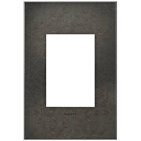 adorne® 1-Gang 3-Module Dark Burnished Pewter Wall Plate