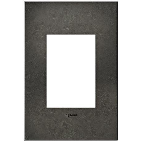 adorne® 1-Gang 3-Module Dark Burnished Pewter Wall Plate
