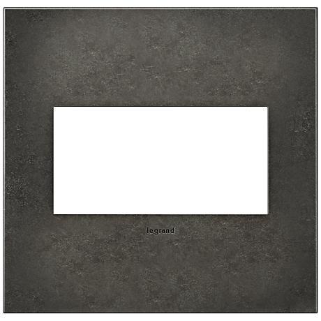 adorne® Cast Metal 2-Gang Dark Burnished Pewter Wall Plate