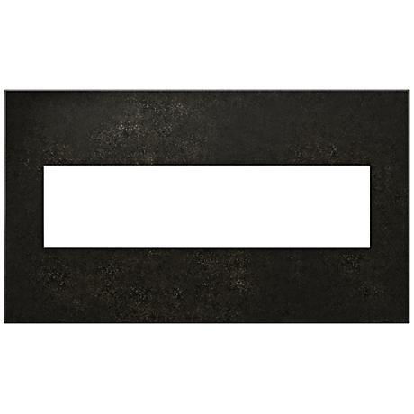 adorne® Cast Metal 4-Gang Dark Burnished Pewter Wall Plate