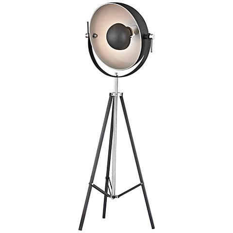 Dimond Backstage Black and Nickel Adjustable Floor Lamp
