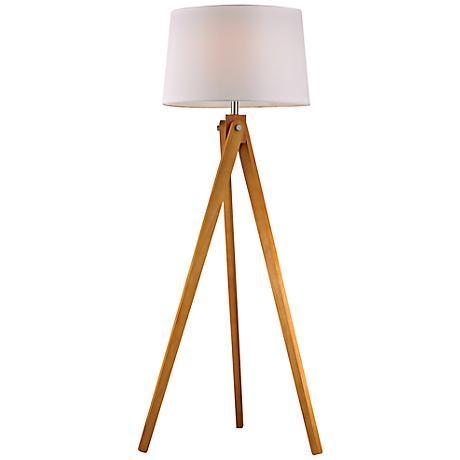 Dimond Natural Wood Tripod Floor Lamp