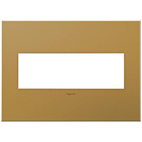 adorne® 3-Gang Satin Bronze Wall Plate