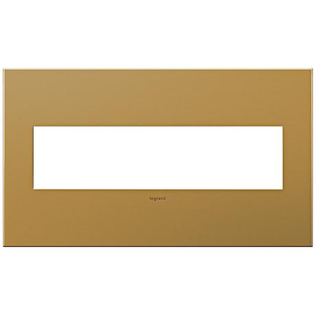 adorne® 4-Gang Satin Bronze Wall Plate