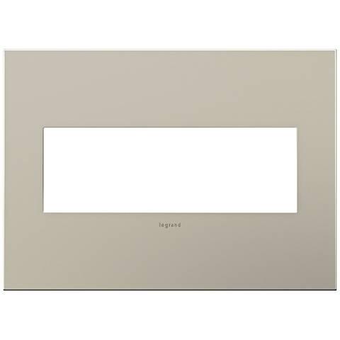 adorne® 3-Gang Satin Nickel Wall Plate