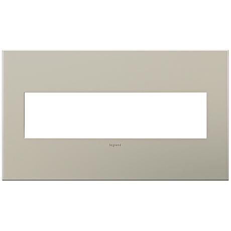 adorne® 4-Gang Satin Nickel Wall Plate