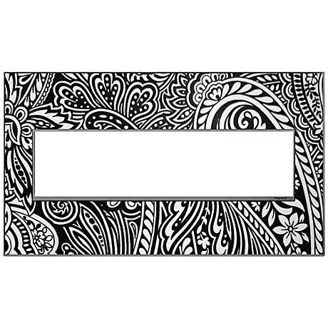 adorne® Magnesium Trim 4-Gang Customizable Wall Plate