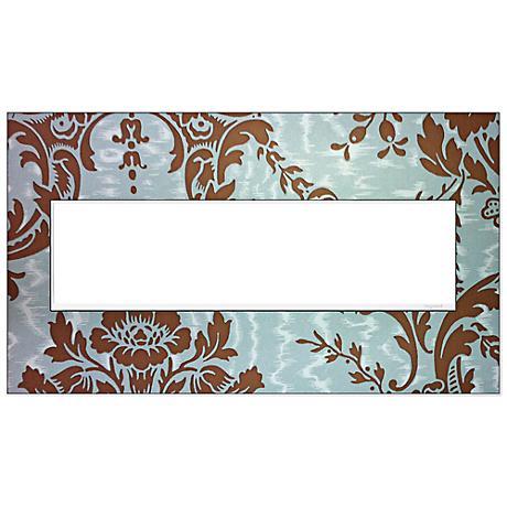adorne® White Trim 4-Gang Customizable Wall Plate
