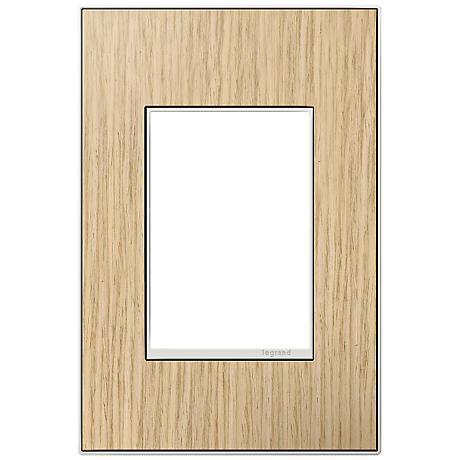adorne® 1-Gang 3-Module French Oak Wall Plate