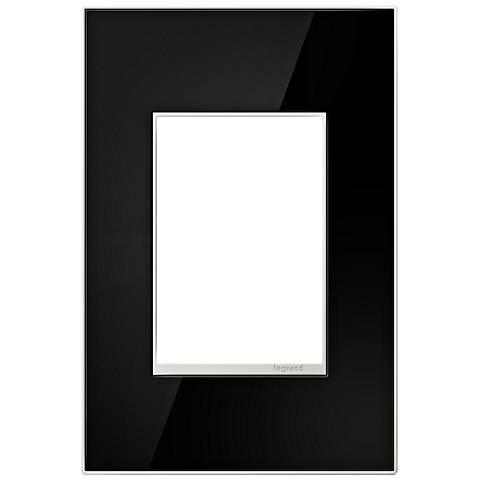 adorne® 1-Gang 3-Module Mirror Black Wall Plate