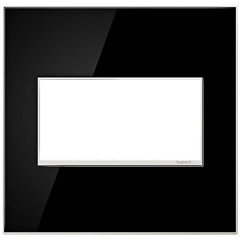 adorne® 2-Gang Mirror Black Wall Plate